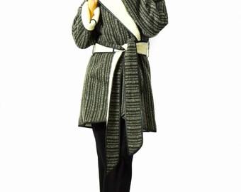 Woman Winter Wool Coat/Long wool Coat Jacket/Woman Quilted coat/Woman wool Jacket/Wool Cardigan/Winter Cape Coat/Warm wool coat/C1369
