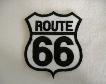 Route 66 69 Embroidered Patch (Single)