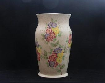 """Lovely Radford Vintage Art Deco Floral Vase 8.5"""""""