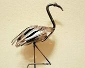 Recycled Scrap Metal, Sculpture  Flamingo Spoon - Reclaimed metal, Repurposed Metal, Unique Art Welded, Steel Art, Garden by JBS