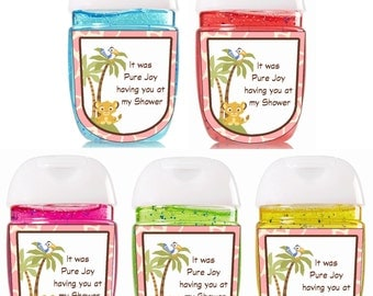 Hand Sanitizer / Bath and Body Works  / Pink / Baby Shower Favors / Bath and Body Works Sanitizer / Sanitizer Labels / Simba
