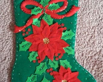 Christmas felt & sequined stockings