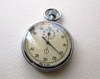 Stopwatch. Vintage 1980's  Stopwatch.   Soviet stopwatch. Chronometer. Made in USSR.