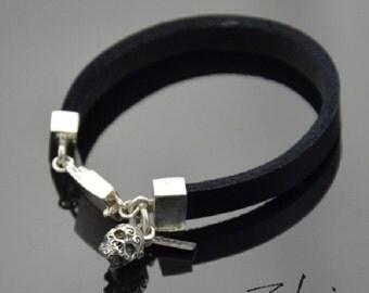 Bracelet Ornamented Skull Silver