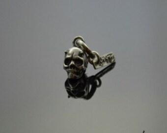 Pendant Horned Skull Silver
