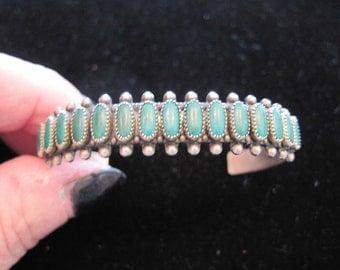 Lovely Green Turquoise Sterling Silver Bracelet