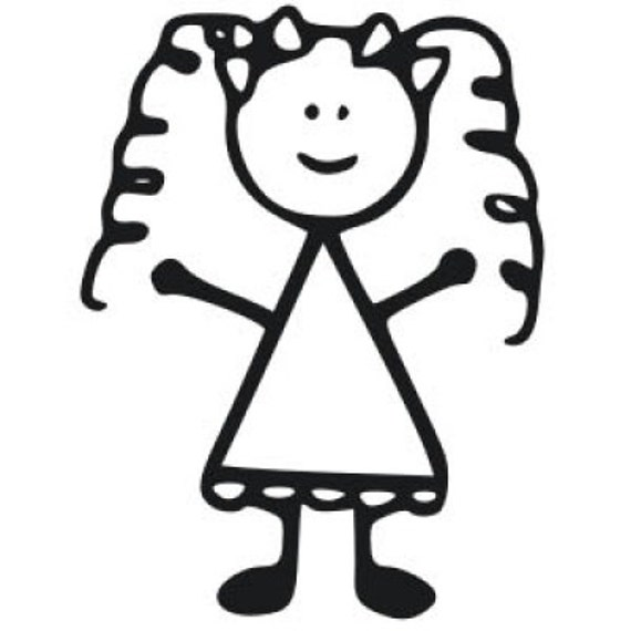Little Girl Stick Decal Girl Car Decal on car parts clip art