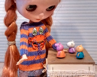 SALT-Blythe knitting dress with crab