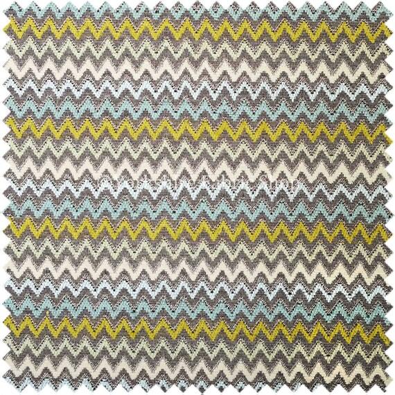 Soft Jacquard Woven Fabric Multicolour Grey Green Blue White ...