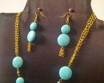 turquoise chain necklace