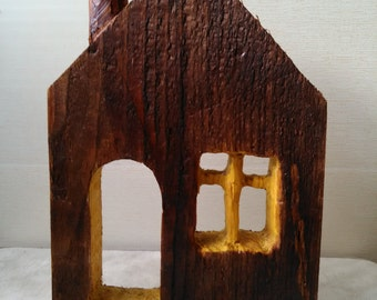 Wooden house.Home decoration, most popular item, rustic decor, house for christmas decor,miniature wood house, little house,decorative house