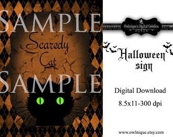 Halloween Sign, Digital Download, Instant Download, Halloween Download, Printable Download, Printable Sign, Halloween Printable