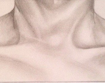 Original Collarbones Graphite Drawing