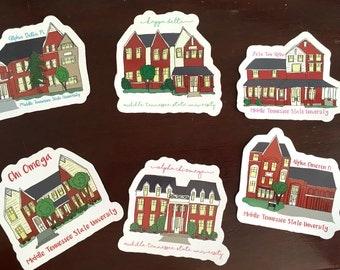 MTSU sorority house stickers