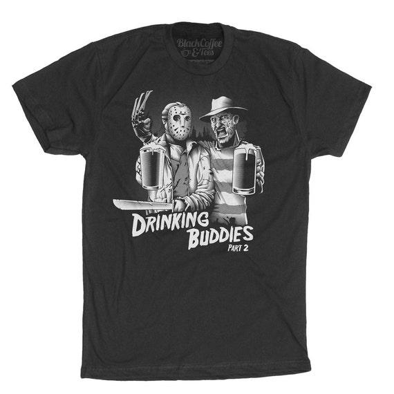 Mens Freddy Krueger Shirt -Jason Voorhees Shirt- Friday The 13th Shirt- Halloween T-Shirt- Mens Horror Shirt- Old Horror Shirt- Craft Beer