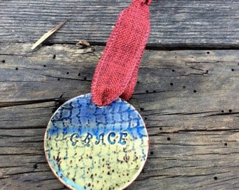 Pottery Christmas Ornament