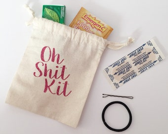 Oh Sh*t Kit Bachelorette BAGS ONLY | Bridal Party Favor Bags