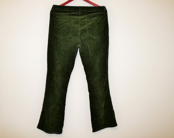 Popular Womens Ladies Khaki Green Brown Wide Leg Combat Trousers Cargo Jeans