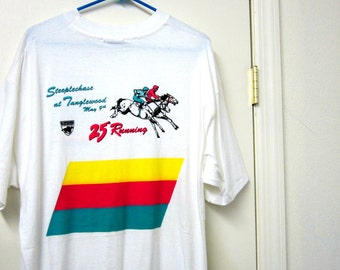 1988 -25TH Running Of The STEEPLECHASE AT  TANGLEWOOD May 6 Size xl-Nos!!