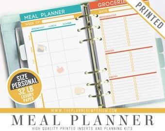 Personal Meal Planner Inserts Fits Kikki K Medium Filofax