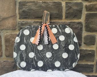 Black and White polka dot pumpkin