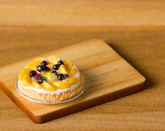 Dollhouse Miniatures Pear & Blueberry Tart
