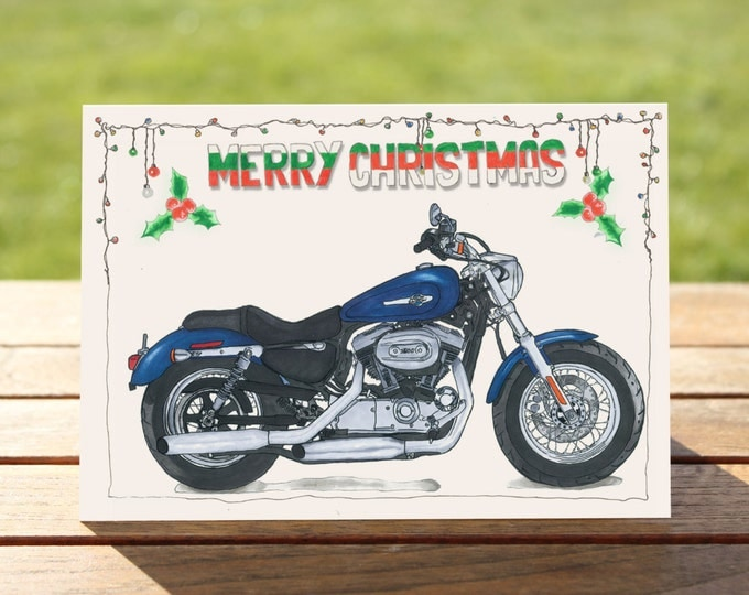 """Motorcycle Chistmas Card 