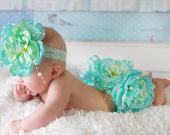 Boutique Blossom Cotton Bloomer Set Baby Photo Prop