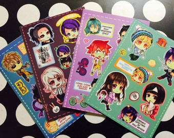 Chibi anime stickers sheet 02 (UNCUT)