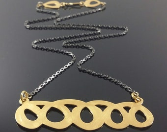 Hand made, Gold and Black necklace