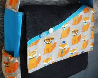 DIAPER BAG fox glasses