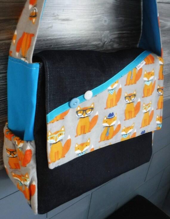 DIAPER BAG fox glasses