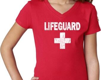 Distressed Lifeguard Tee T-Shirt DLIFEGUARD-3740