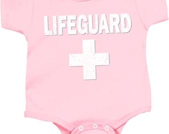Distressed Lifeguard Baby Onesie DLIFEGUARD-4438