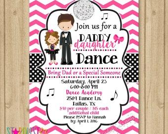 Father Daughter Dance Invitation, Dance Party Invitation, Dance Birthday Invitation, Daddy Daughter Dance Invitation