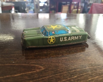 Vintage US Army Tin Car