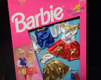 Mattel Barbie dolls clothes, Two Casual Cool Fashions Doll Clothes, New in package, Two fashions
