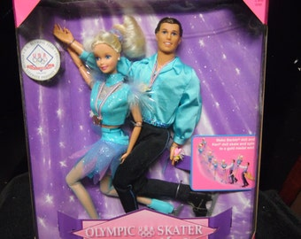 Mattel Olympic Skater Barbie and Ken Dolls