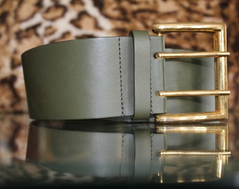 Army Green and Gold Belt