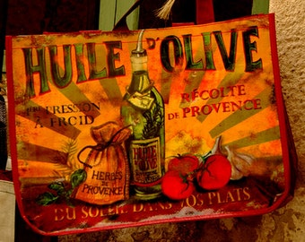 Color Photograph, Olive Oil Tote Bag, Provence,France