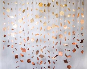 Fall Leaf Garland: Metallic