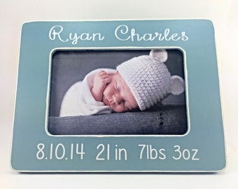 Baby Picture Frame Newborn Baby Picture Frame Gift for Newborn Baby Gift for Baby Baby Stats Picture Frame
