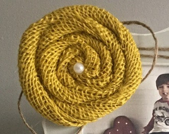 Mustard Rose with Twine- ONLY sold  with a picture frame from Kissel Ave.