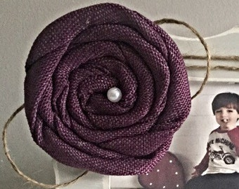 Plum Rose with Twine- ONLY sold  with a picture frame from Kissel Ave