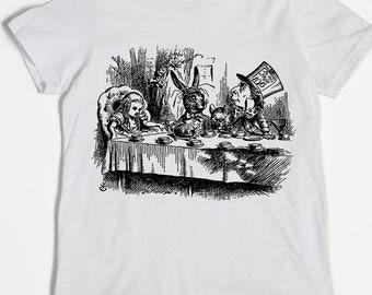 Alice in Wonderland Shirt - Kids' Shirt - Graphic Tee - Screen Printed Tee - Mad Hatter T-shirt