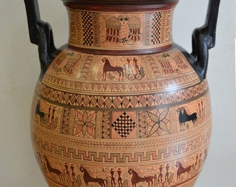 For Sale Geometric Period Amphora Vase - Ancient Greece-National Museum Of Greece Replica