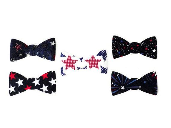 iron on fabric applique boys bow tie patriotic iron on t. Black Bedroom Furniture Sets. Home Design Ideas