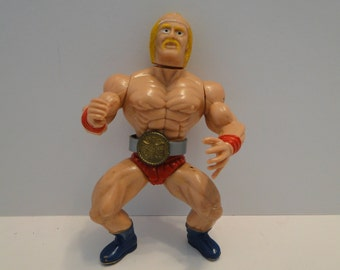 Vintage 1980's Bootleg/Knock Off Hulk Hogan Wrestler with Championship Belt