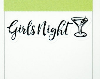 39 Girls Night Stickers  | Planner Stickers designed for use with the Erin Condren Life Planner | 0707