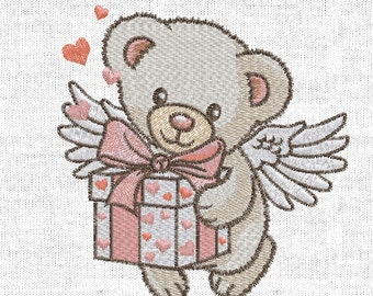 Machine Embroidery Design - Cute Teddy Bear